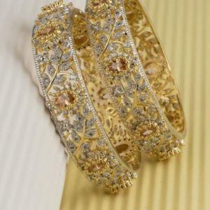 American Diamond Gold Plated Bangles